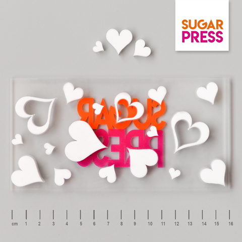 Sugar Press Hearts Board