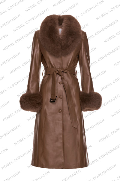 SAMPLE - CLAIRE COAT - BROWN
