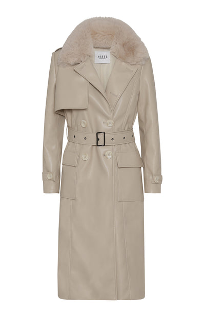 MILA COAT - LIGHT BEIGE - PRE-ORDER