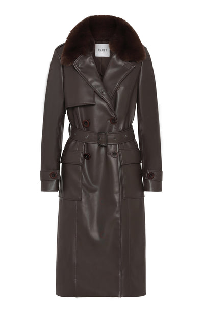 MILA COAT - DARK BROWN - PRE-ORDER