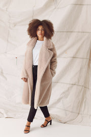 TEDDY COAT - NUDE