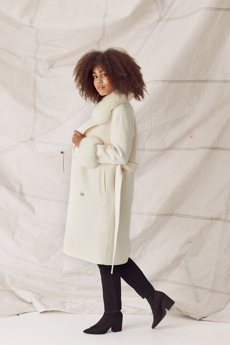 MADELINE COAT - WHITE/CREME