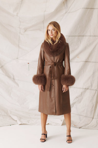 CLAIRE COAT - DARK BROWN