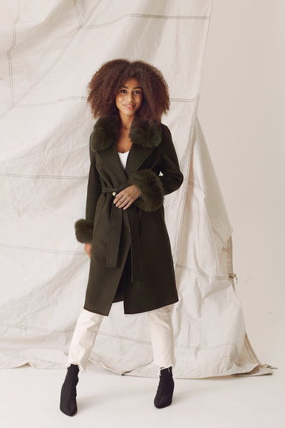 MADELINE COAT - ARMY GREEN
