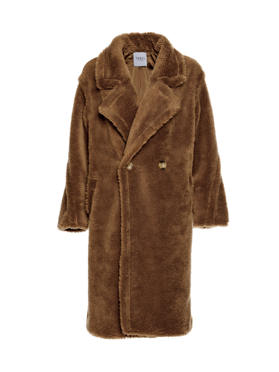 TEDDY COAT - BROWN