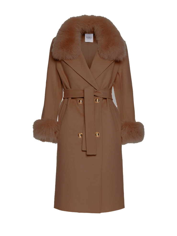 MADELINE COAT - BROWN