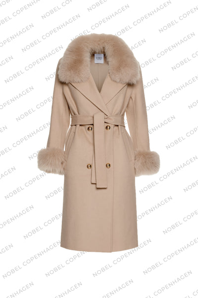 SAMPLE - MADELINE COAT - NUDE