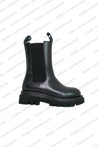 SAMPLE - PU LEATHER BOOTS - BLACK