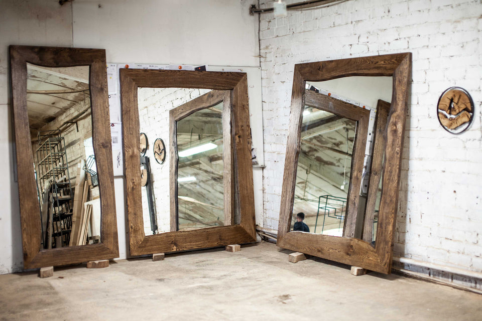 MASSIVE OAK MIRROR 191