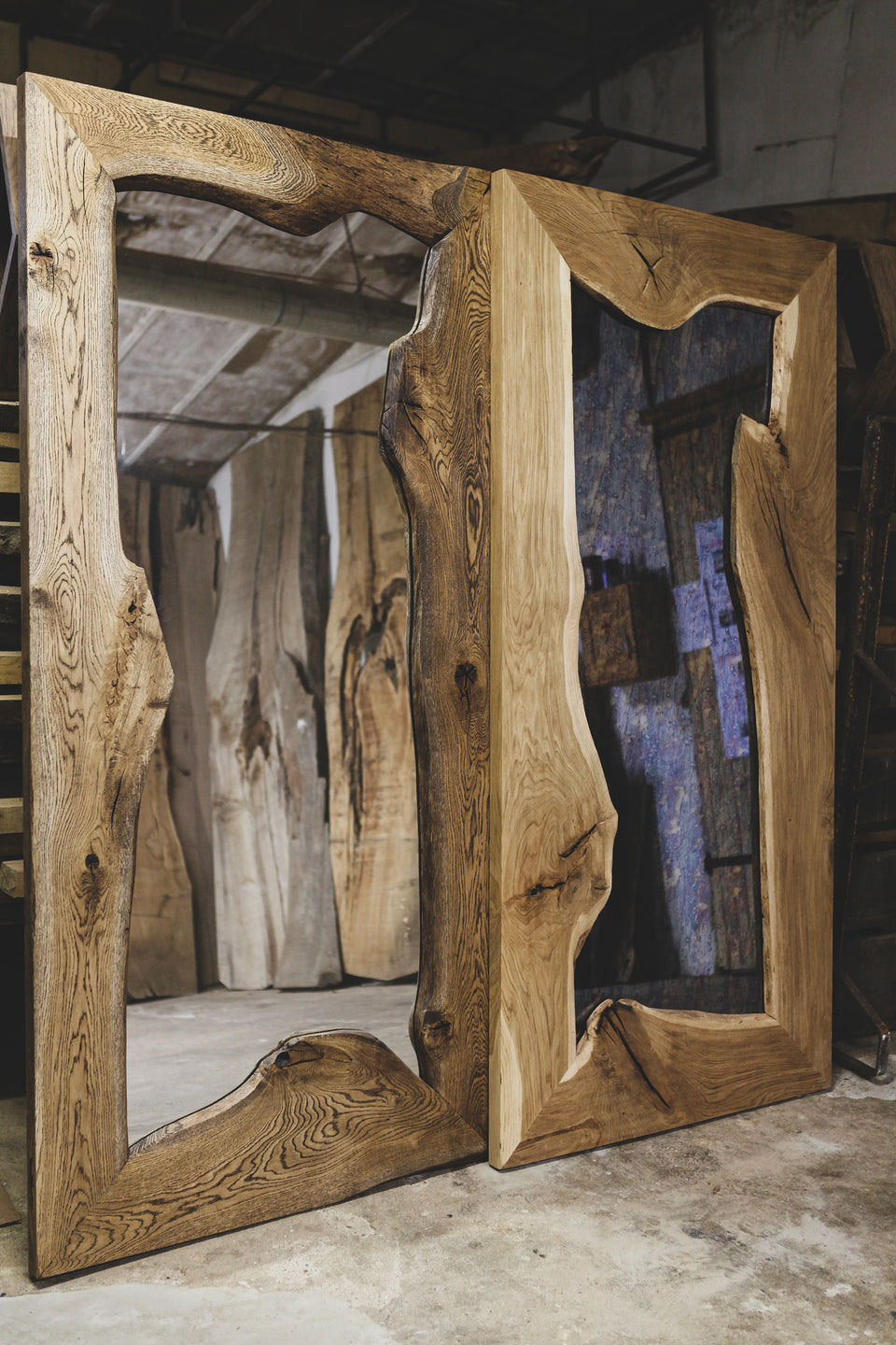 MASSIVE OAK MIRRORS 238