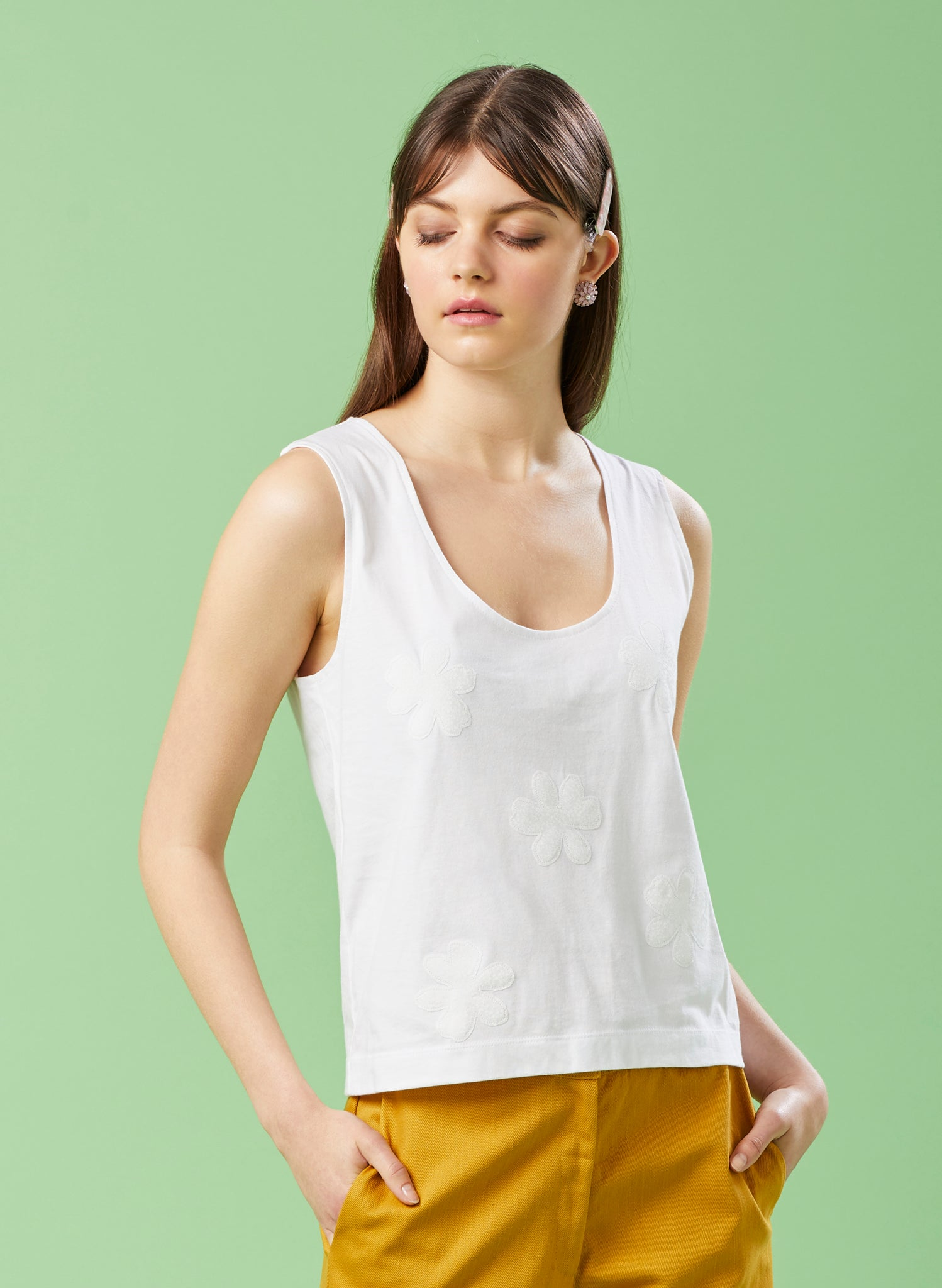 Holidaymaker White Singlet Top