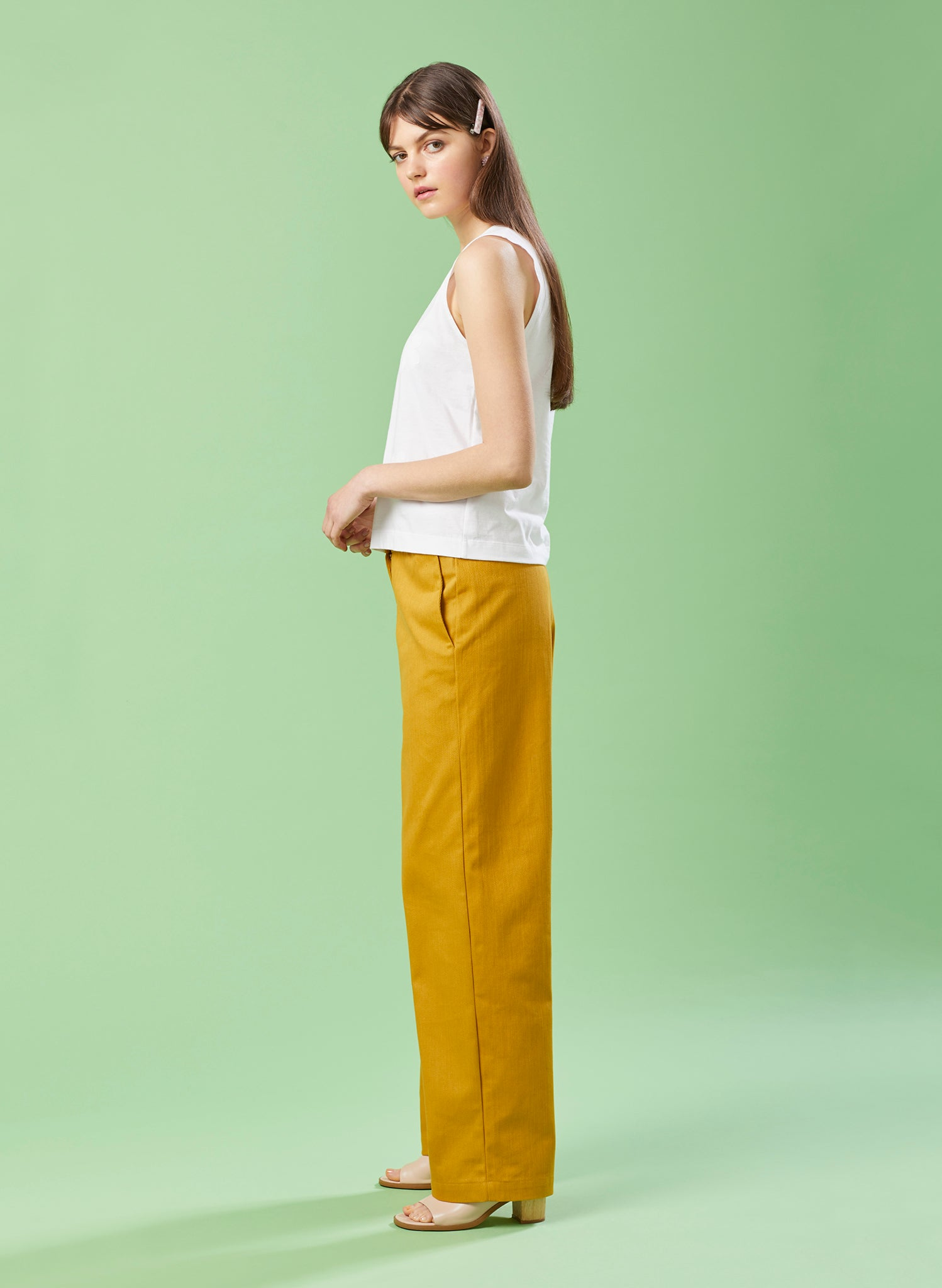 Summer House Mustard Denim Wide Legged Trouser
