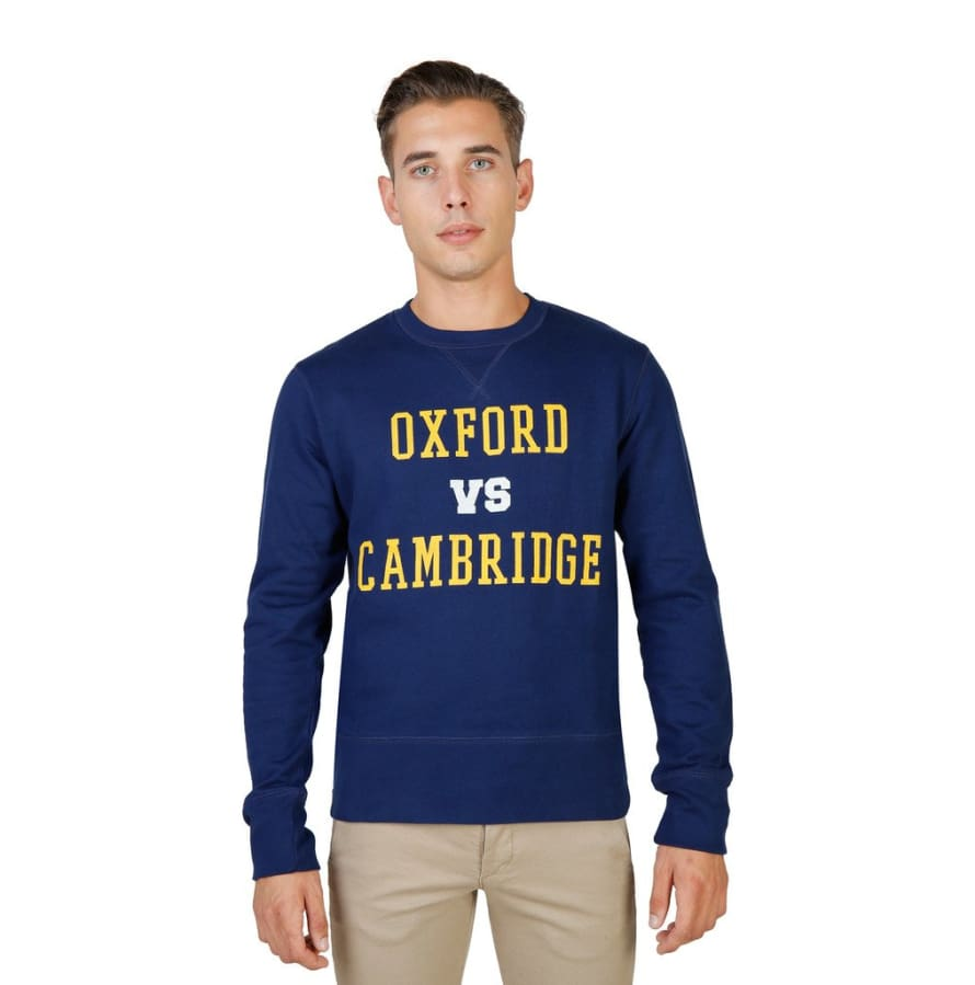Oxford University - OXFORD-FLEECE-CREWNECK - blue / S - Clothing Sweatshirts