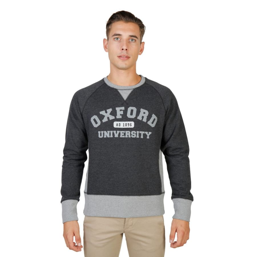 Oxford University - OXFORD-FLEECE-RAGLAN - grey / S - Clothing Sweatshirts