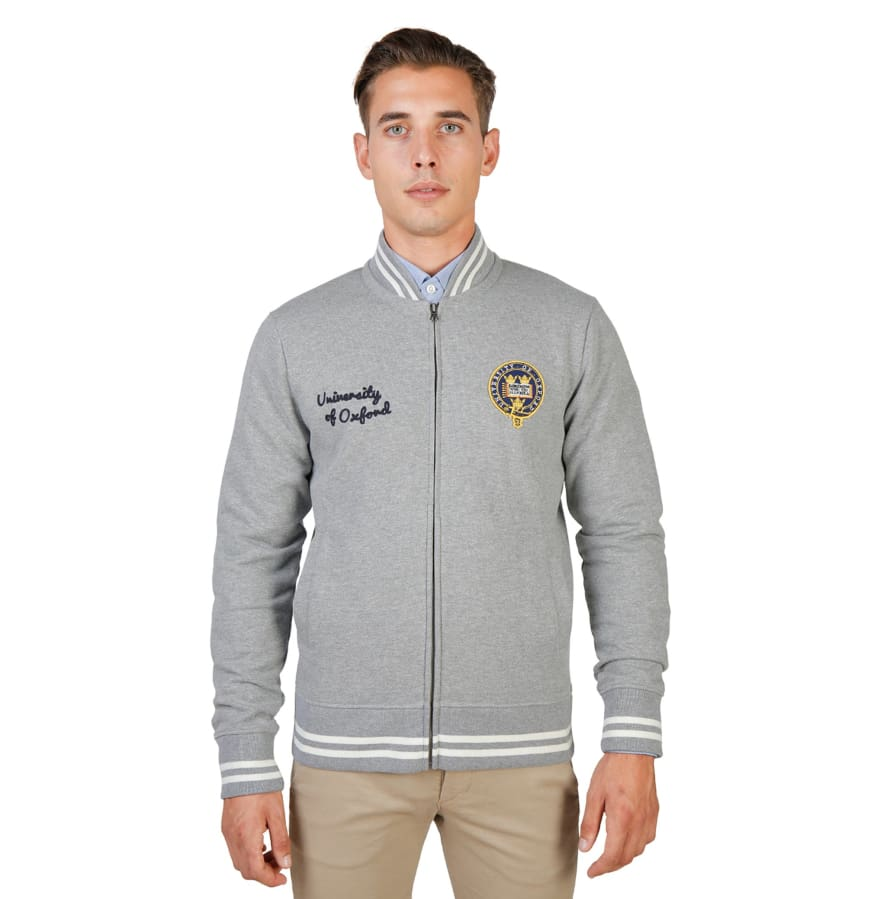 Oxford University - OXFORD-FLEECE-TEDDY - grey / S - Clothing Sweatshirts
