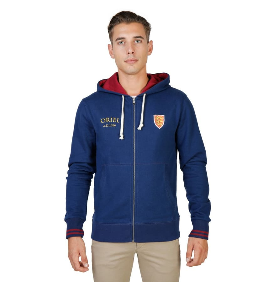 Oxford University - ORIEL-HOODIE - blue / S - Clothing Sweatshirts