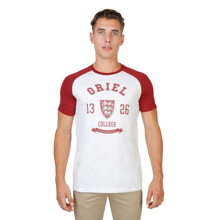 Oxford University - ORIEL-RAGLAN-MM - red / S - Clothing T-shirts