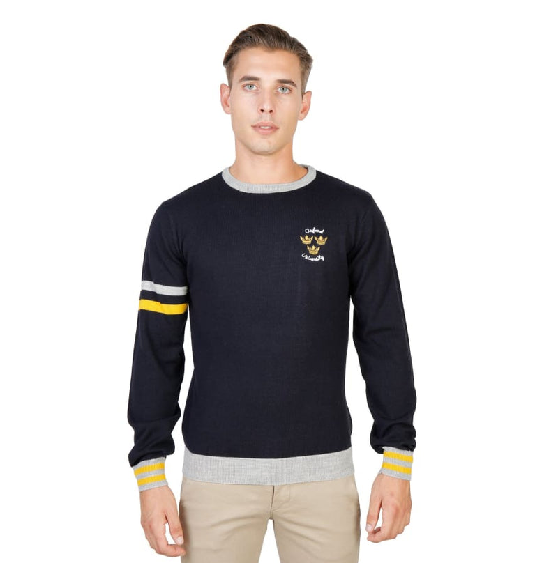 Oxford University - OXFORD_TRICOT-CREWNECK - blue / M - Clothing Sweaters
