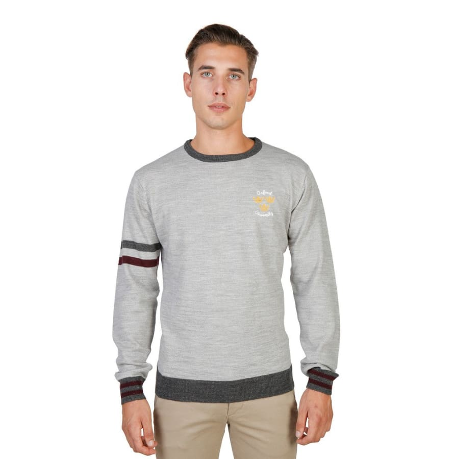 Oxford University - OXFORD_TRICOT-CREWNECK - grey / M - Clothing Sweaters