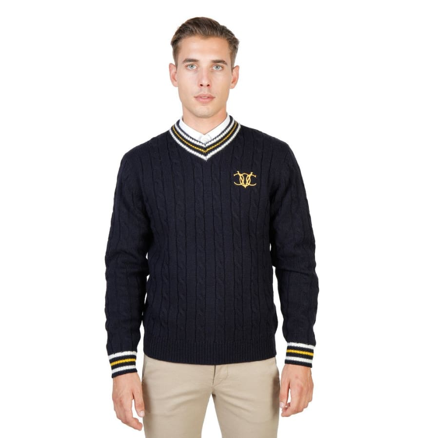 Oxford University - OXFORD_TRICOT-CRICKET - blue / M - Clothing Sweaters