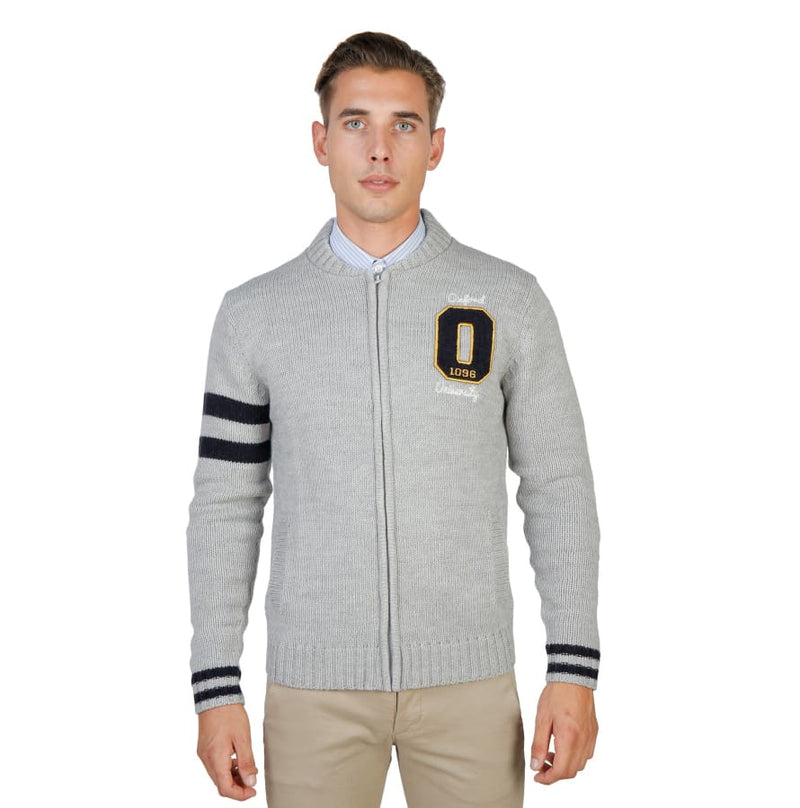 Oxford University - OXFORD_TRICOT-TEDDY - grey / M - Clothing Sweaters