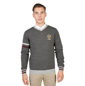 Oxford University - OXFORD_TRICOT-VNECK - grey / M - Clothing Sweaters