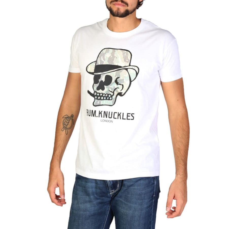 Rum Knuckles - DNMTS051 - white / S - Clothing T-shirts