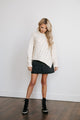 Cable Slant Sweater