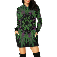 Ganja mandala Hoodie Mini Dress
