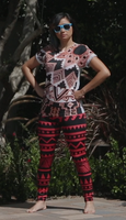 Red Taga-Ilog Leggings