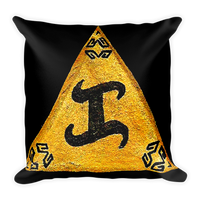 "Golden ""KA"" meditation pillow"
