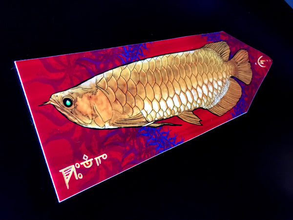 Golden Dragon Arwana Flag Stickers