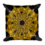 Golden Galaxy Mandala meditation pillow