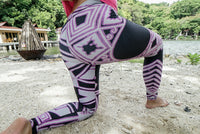 Purple Crocodile Sun Leggings