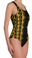 Banka swimsuit black and gold