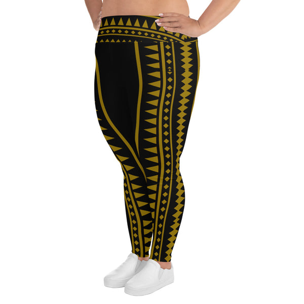 Golden Pintados Leggings Plus Size