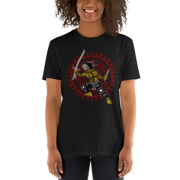 Pandaguan Gold mask Short-Sleeve Unisex T-Shirt