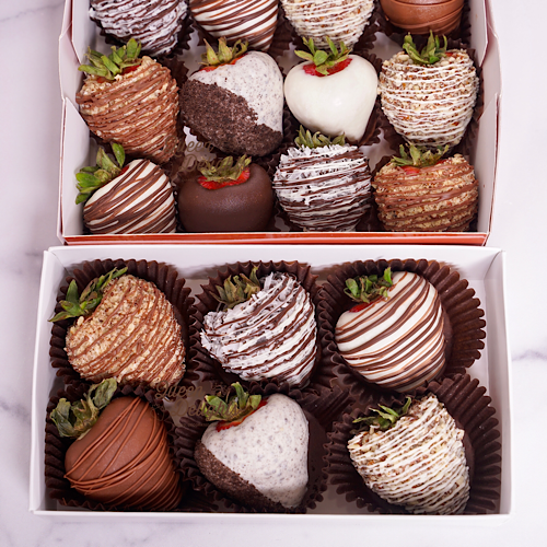 Gourmet Chocolate Covered Strawberry Box - Queen Delights