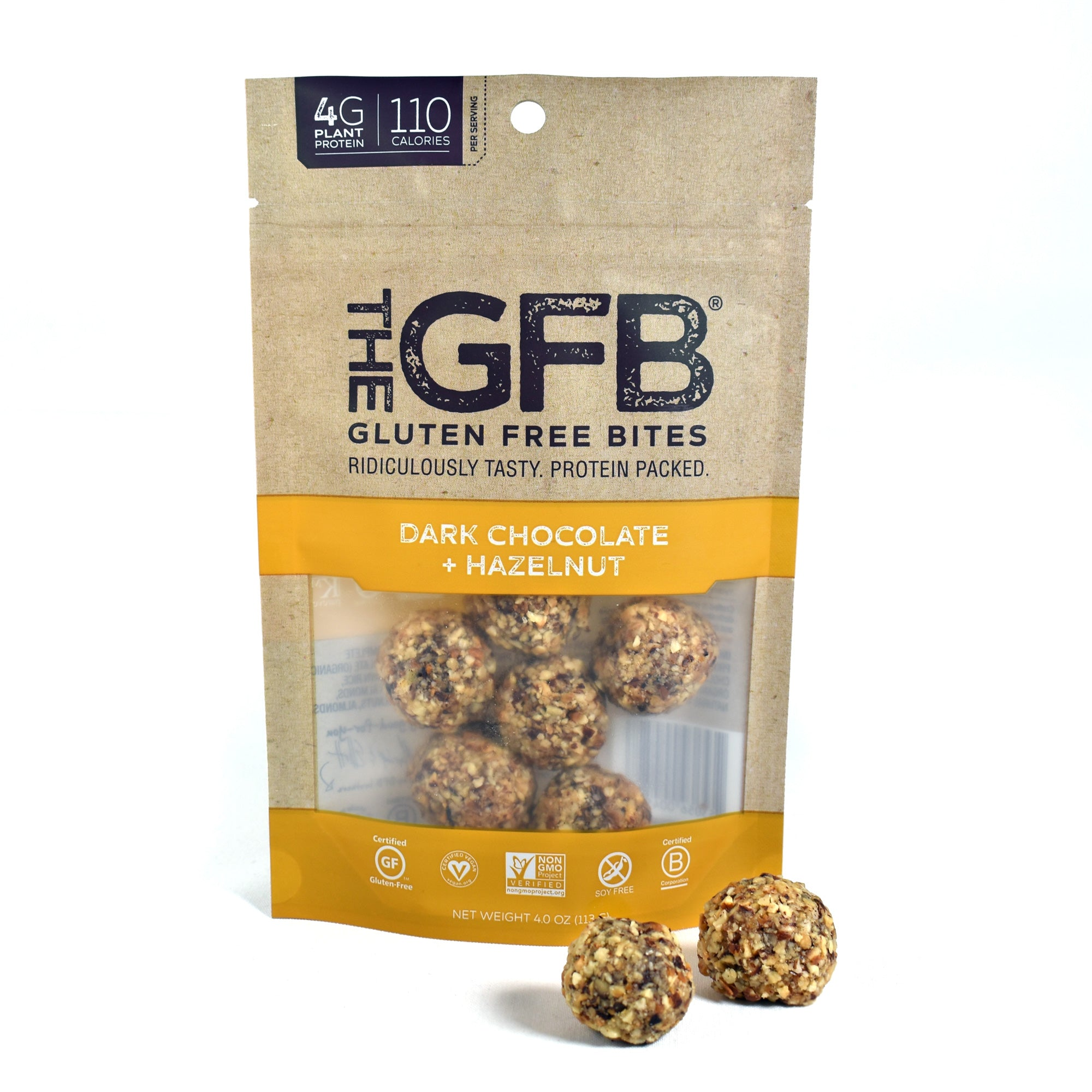 Dark Chocolate Hazelnut GFB Bites (4 oz. bag) - The GFB - The Gluten Free Bar
