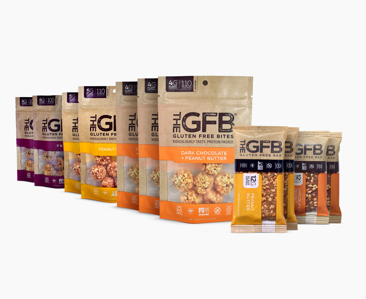 GFB Sampler Pack: Peanut Lovers - The GFB - The Gluten Free Bar