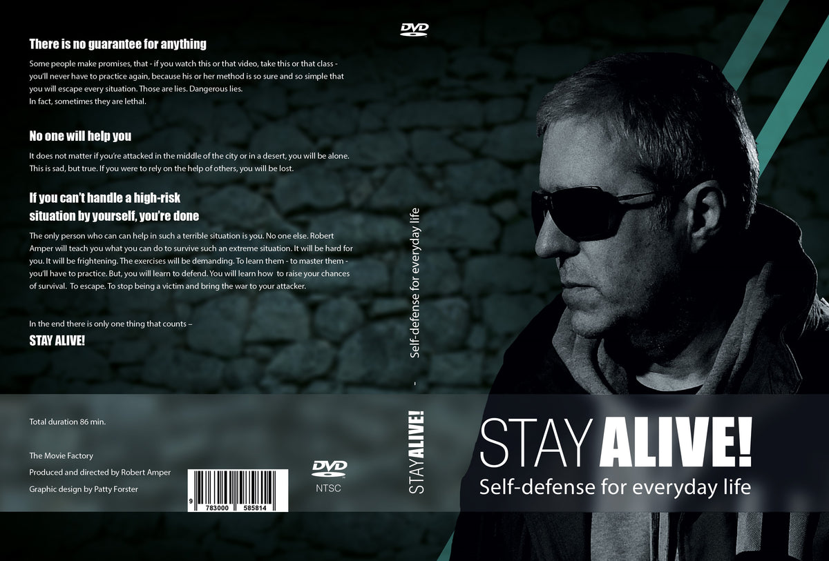 DVD Stay Alive - Video tutorial on practical self defense without any tools