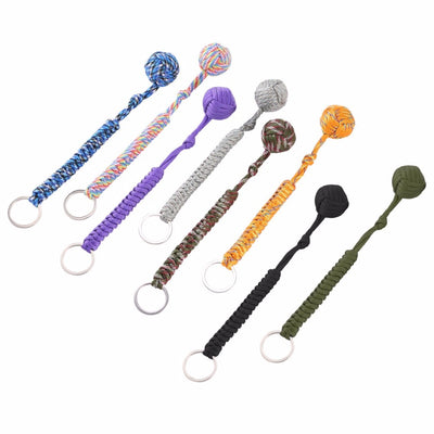 Monkey Fist Steel Ball Security Protection for Self Defense  Multifunctional Keychain