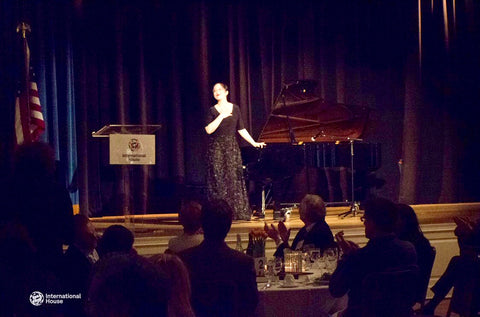 "Sisi Liu performing ""Isoldens Liebestod"" for the World Council of Alumni Supper with special guest Steve Coll at the International House in New York"