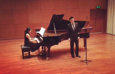 Pianist Tianyu Deng collaborating with Kwok Ho Lam