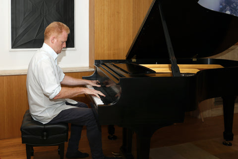Pianist Steve Beck Playing on a Steinway Model L Piano at Park Avenue Pianos.