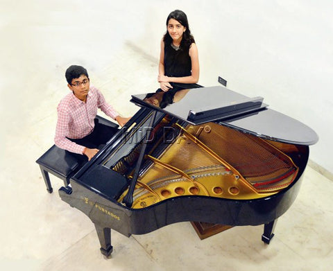 MMMF Piano Students on Steinway Model S Baby Grand Piano