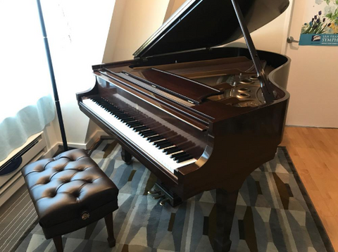 2003 Steinway Model L Grand Piano Mahogany Crown Jewel at Park Avenue Pianos