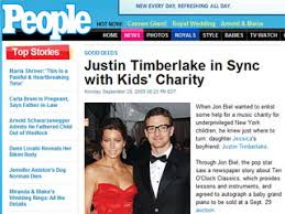 People Magazine Justin Timberlake Steinway grand piano