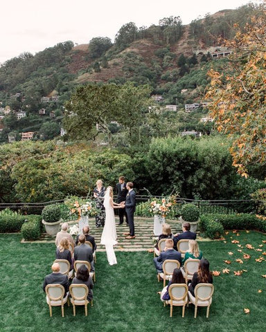 backyard wedding in sausalito california