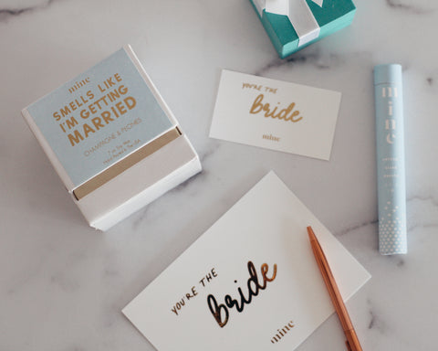 The Mine Company - Complimentary Gold Foil Gift Cards - Handwritten Gift Messages - Bridal Gifts - Gifts For Corona Brides
